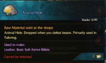 Animal hide description