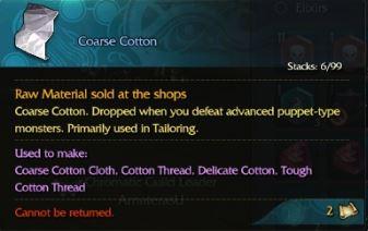 Coarse cotton description